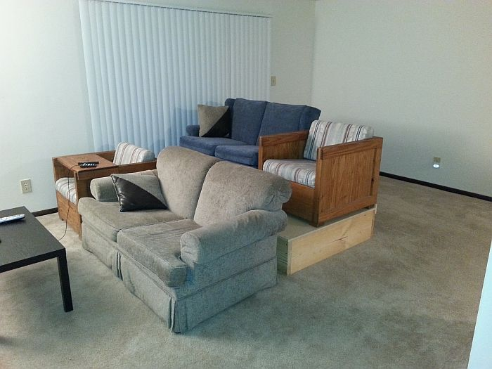 stadium seating couches living room. Done  Stadium seating project Lamron s Playground Forums
