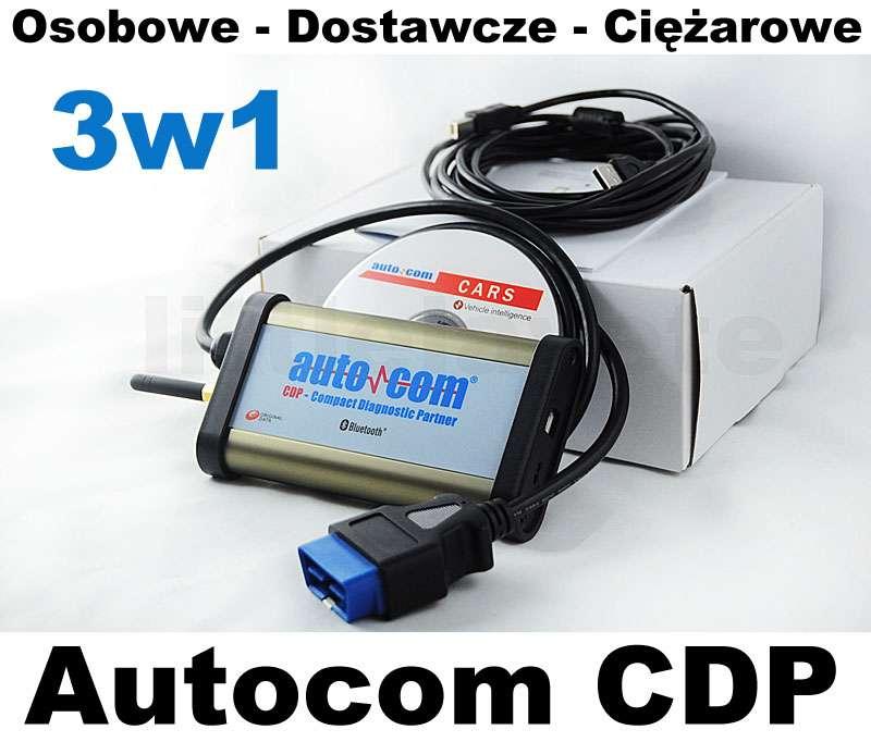 Tester Diagnoskop Autocom CDP PRO 3w1 2013 ISO CAN USB Bluetooth